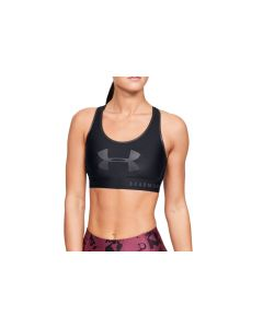 damskie Under Armour Mid Keyhole Graphic Bra 1344333-001 001